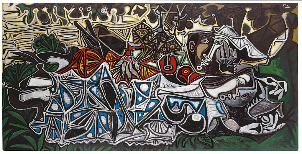 Picasso - Muchachas a la orilla del Sena, según Courbet